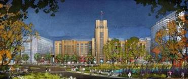 The parking lot at the Landmark Center is going to be converted into a public park.